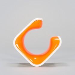 Hybrid, White/Orange, CLUG_4301