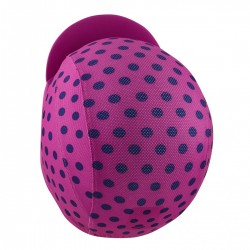 Lightweight Cycling Cap, Pink/Navy Polka Dot_4709