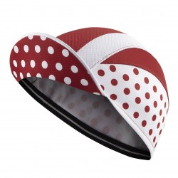 Lightweight Cycling Cap, White/Red Polka Dot_4714