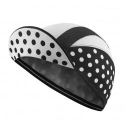 Lightweight Cycling Cap, Black/White Polka Dot_5487