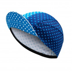 Lightweight Cycling Cap, Indigo/White Polka_5493