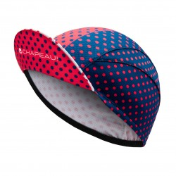 Lightweight Cycling Cap, Blue/Hot Pink/White Polka_5495
