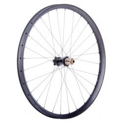 "C33i Straight Rear Wheel 29"", 28 Hole, Boost 148x12 Hub, IS, black_7208"